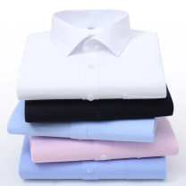 shirt Business gentleman Yang ou 38 39 40 41 42 43 44 45 46 47 48 50 52 54 Thin money square neck Short sleeve easy Other leisure summer old age Cotton 65% polyester 35% Business Casual 2020 Solid color oxford Spring 2020 No iron treatment cotton Button decoration Exclusive payment of tmall