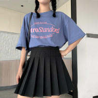 skirt Summer 2020 S M L XL Black, gray and white show Pink Short skirt commute High waist Pleated skirt Solid color Type A 18-24 years old D20722 More than 95% other Punctuality girl polyester fiber Korean version Polyester 100% Pure e-commerce (online only)