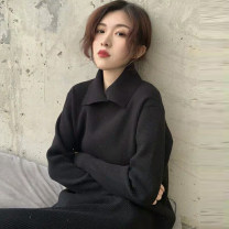 Dress Autumn of 2019 Black Pink M S L XL Mid length dress singleton  Long sleeves commute Polo collar Loose waist Solid color Socket A-line skirt routine Others 18-24 years old Type A Love of Shu Mei Korean version VDKY14385 More than 95% other other Other 100% Exclusive payment of tmall