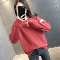 Sweater / sweater Spring 2021 19721 apricot 19707 red 19707 apricot 19721 red S M L XL Long sleeves routine Socket singleton  routine Crew neck easy commute routine letter 96% and above Hold Teddy Korean version other HB15603HT1970775256 printing Other 100% Pure e-commerce (online only)