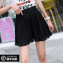 Casual pants black S M L XL Summer 2020 shorts Wide leg pants High waist original Thin money 25-29 years old 96% and above DYB-070119C302B Fish / betta polyester fiber Three dimensional cutting polyester fiber Polyester 100% Pure e-commerce (online only) Asymmetry