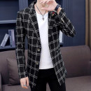 Windbreaker Type Shang set Fashion City 165/M 170/L 175/XL 180/XXL 185/XXXL Single breasted Medium length Self cultivation Other leisure autumn youth tailored collar tide lattice Decorative loop Autumn of 2018 Pure e-commerce (online only)