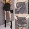 skirt Winter 2020 S M L XL 2XL Black grey Short skirt commute High waist Pleated skirt lattice 25-29 years old More than 95% Biziyao other Korean version Other 100.00% Pure e-commerce (online only)