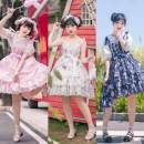 Lolita / soft girl / dress Wall uncle White - jsk, pink - jsk, dark cyan - jsk (close to black), there is a certain color difference, subject to the actual color S-small, l-large No season Pre sale Lolita