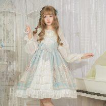 Lolita / soft girl / dress Wall uncle Light green jsk, purple jsk, black jsk L,S No season Pre sale Lolita