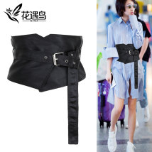 Belt / belt / chain cloth S black [waist 62-70cm] spot m black [waist 69-80cm] spot female Waistband Simplicity Single loop Middle aged youth other