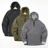 Jacket Youth fashion Grey, black, army green S,M,L,XL routine easy Other leisure Four seasons Long sleeves Wear out Hood Solid color