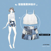 Split swimsuit Aeerohma / easyman Denim M [recommended weight 70-95 kg], l [recommended weight 95-105 kg], XL [recommended weight 105-120 kg], 2XL [recommended weight 120-135 kg] Skirt split swimsuit With chest pad without steel support L1819
