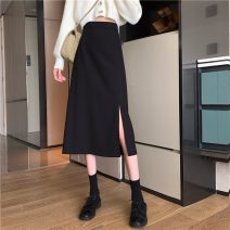 skirt Spring 2021 S,M,L,XL Apricot, black, bluish grey longuette commute High waist A-line skirt Solid color Type A 18-24 years old 31% (inclusive) - 50% (inclusive) other Other / other other Korean version