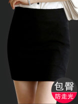 skirt Summer 2021 XS,S,M,L,XL,2XL,3XL,4XL,5XL Black skirt, dark blue skirt, black long, blue long, black thick, blue thick Short skirt commute High waist Suit skirt Solid color Type O 30-34 years old 81% (inclusive) - 90% (inclusive) knitting Other / other polyester fiber Pocket, zipper