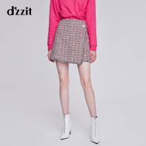 skirt Spring of 2019 XS S M bright red Short skirt commute Natural waist Cake skirt lattice Type A 25-29 years old 3G1S2123H 81% (inclusive) - 90% (inclusive) d'zzit polyester fiber Asymmetry lady Polyester 87% cotton 11% viscose 1% glass 1% Same model in shopping mall (sold online and offline)