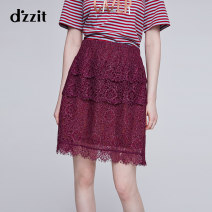skirt Winter of 2018 XS S M violet Short skirt sexy Natural waist Princess Dress Decor Type A 25-29 years old 3F4S2437Y 31% (inclusive) - 50% (inclusive) d'zzit polyester fiber Lace Polyester 45% polyamide 31% cotton 24% Same model in shopping mall (sold online and offline)