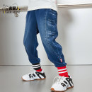 trousers Little tiger baby male 110cm 120cm 130cm 140cm 150cm 160cm spring and autumn trousers motion There are models in the real shooting Jeans Leather belt middle-waisted Cotton blended fabric Don't open the crotch Class B Autumn 2020 Chinese Mainland Jiangsu Province Suzhou