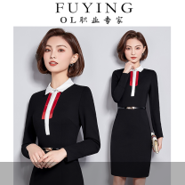 Professional dress suit S M L XL XXL XXXL Dress Autumn of 2018 Long sleeves FY8013 Other styles other 18-25 years old Fu Ying Polyester 63% polyamide 31% viscose 6% Pure e-commerce (online only) 51% (inclusive) - 70% (inclusive) polyester fiber