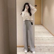 Women's large Autumn 2020 Knitwear / cardigan Two piece set commute Cardigan Long sleeves Korean version Dai Yi Department 18-24 years old Other 100.00% Pure e-commerce (online only) trousers