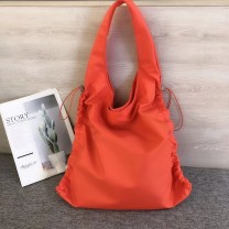 Bag The single shoulder bag Nylon  Tote Bag Other / other brand new Japan and South Korea large leisure time soft zipper no Solid color Single root One shoulder hand nothing youth other fold Soft handle polyester cotton Zipper bag, cell phone bag set-in pocket