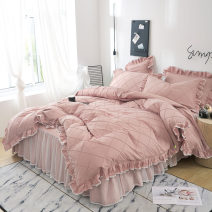 Bedding Set / four piece set / multi piece set cotton other Solid color 133x72 The beginning of the century cotton 4 pieces 40 Bed skirt Qualified products 100% cotton twill digital printing