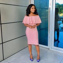 Dress Summer of 2019 Pink S,M,L,XL,2XL