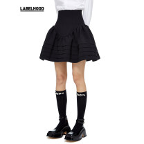 skirt Spring 2021 XS/6 S/8 M/10 L/12 Black gray white Short skirt High waist Solid color 25-29 years old SS21SK05 More than 95% SHUSHU TONG polyester fiber Polyester 100% Same model in shopping mall (sold online and offline)