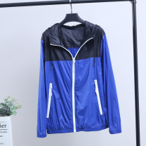 Jacket Other / other other White, blue S-165/88A,M-170/92A,L-175/96A,XL-180/100A,XXL-185/104A thin easy Other leisure spring Polyamide fiber (nylon) 100% Long sleeves Wear out Hood Basic public youth routine Zipper placket 2020 Rib hem Closing sleeve other nylon More than 95%