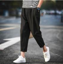 Casual pants Others Fashion City Gray [single piece], black [single piece], black + black, black + gray, gray + gray, T22 white M,L,XL,2XL,3XL,4XL,5XL routine Ninth pants dance easy summer youth Chinese style 2018 middle-waisted Straight cylinder Haren pants No iron treatment