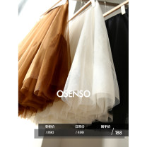 skirt Spring 2021 S,M,L Middle-skirt commute Natural waist Fluffy skirt Solid color Type A 25-29 years old More than 95% other Xu Qiuqiu polyester fiber Korean version
