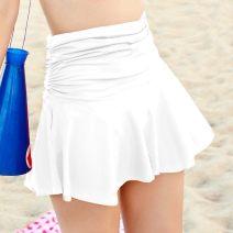 Split swimsuit Other Black, white, red, rose, purple M,L,XL Skirt split swimsuit No steel support, no chest pad nylon female