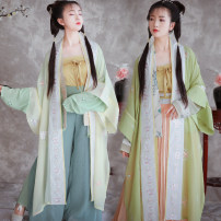 Hanfu 81% (inclusive) - 90% (inclusive) Summer 2020 One piece grass green one piece song pants Average m (in stock) polyester fiber