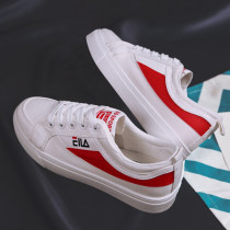 canvas shoe Lillaston Low Gang 808 red 808 white three hundred and fifty-three billion six hundred and thirty-seven million three hundred and eighty-three thousand nine hundred and forty Summer of 2018 Frenulum Korean version rubber Solid color Youth (18-40 years old) Eight hundred and eight