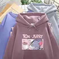 Sweater / sweater Winter 2020 M L XL 2XL 3XL 4XL Long sleeves routine Socket singleton  Plush Hood easy commute routine Cartoon animation 18-24 years old 96% and above Several seedlings Korean version other printing cotton Intradermal bile duct Other 100% Exclusive payment of tmall