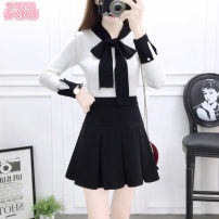 Fashion suit Winter 2020 S M L White top + Black Skirt Pink Top + grey skirt pink top + black skirt 18-25 years old Jonana 96% and above cotton Other 100% Pure e-commerce (online only)