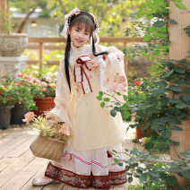 Tang costume Main waist (inside) - spot skirt - spot cardigan (coat) - spot bow [one size fits all] accessories - spot 110cm 120cm 130cm 140cm 150cm Polyethylene terephthalate (PET) 98% polyurethane elastic fiber (spandex) 2% female spring and autumn There are models in the real shooting routine