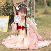 Tang costume 110cm 120cm 130cm 140cm 150cm Polyethylene terephthalate (PET) 98% polyurethane elastic fiber (spandex) 2% female spring and autumn There are models in the real shooting routine Initial establishment polyester fiber Class B other Chinese Mainland Guangdong Province Spring 2021