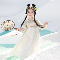 Tang costume Top and Lining - spot upper half arm - spot suspender skirt - spot 110cm 120cm 130cm 140cm 150cm Polyethylene terephthalate (PET) 98% polyurethane elastic fiber (spandex) 2% female spring and autumn There are models in the real shooting routine Initial establishment polyester fiber other