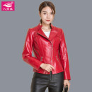 leather clothing Cucurbita pepo Autumn 2020 M L XL 2XL 3XL S 4XL Red and black have cash less than that is registered in the accounts Long sleeves Self cultivation commute stand collar zipper routine BYG-8907 Sheepskin zipper 40-49 years old 96% and above Patent leather Sheepskin