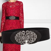Belt / belt / chain Pu (artificial leather) Camel, khaki, off white, red, black, Navy, nude pink, jujube female Waistband ethnic style Single loop Youth, middle age a hook Flower design Glossy surface 6cm alloy Bare, inlaid, hollowed out, carved, lace, elastic, flower Leisurely season Y702 60cm,68cm