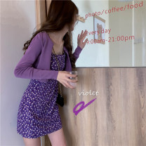 Fashion suit Summer 2020 Average size Purple cardigan with lace skirt 18-25 years old Mushiti UU928* Other 100% Pure e-commerce (online only)