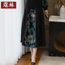 skirt Winter 2020 Average size black Mid length dress Versatile Natural waist A-line skirt KM20-11-04991 More than 95% Mei Kou other Other 100% Pure e-commerce (online only)