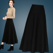 skirt Spring 2020 M 80-100kg, l 100-120kg, XL 120-135kg, 2XL 135-150kg, 3XL 150-165kg, 4XL 165-180kg Red, black Mid length dress commute High waist A-line skirt Solid color Type A 25-29 years old More than 95% Other / other polyester fiber Splicing Korean version