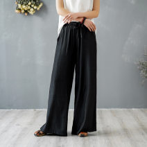 Casual pants White, black, army green Average size Summer 2020 trousers Wide leg pants Natural waist Other styles Thin money 25-29 years old 51% (inclusive) - 70% (inclusive) other other