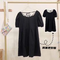 Dress Summer 2021 Average size within 110 kg Black pre sale