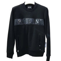 Sweater Youth fashion Available Lo Meng / moncolo black 170(M),175(L),180(XL),185(XXL),190(3XL) originality Socket routine Crew neck autumn Straight cylinder leisure time youth tide routine Fleece  cotton Metal decoration No iron treatment More than 95% Thread embedding and bag digging