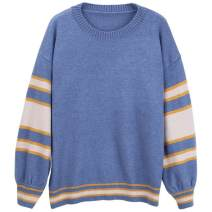 Home top Chaomachuan White, blue, khaki, red S,M,L,XL Long sleeves Crew neck thickening leisure time winter Solid color cotton knitting Socket BYY19DTT2052 QMX2738