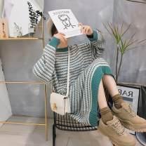 Nursing clothes S,M,L,XL,2XL Zhenzhen family Socket Autumn and winter Long sleeves Medium length leisure time Dress Dot