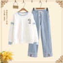 Casual suit Spring 2021 Single piece - white spring and autumn single piece - blue spring and autumn single piece - White Plush single piece - Blue Plush suit [white coat spring and autumn + pa-136 trousers light spring and autumn] suit [blue coat plush + pa-136 trousers light spring and autumn]