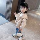 Plain coat Other / other female 80cm,90cm,100cm,110cm,120cm,130cm spring and autumn leisure time Zipper shirt There are models in the real shooting routine No detachable cap Cartoon animation Cotton blended fabric square neck Cotton 95% other 5%