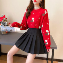 Fashion suit Winter 2020 S,M,L,XL Boot sweater + pleated black skirt, Snowflake Sweater + pleated black skirt, single boot sweater, single Snowflake Sweater, single skirt 81% (inclusive) - 90% (inclusive)