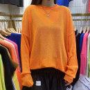T-shirt Youth fashion White, black, orange, blue, beige routine Average size Others Long sleeves Crew neck easy daily spring