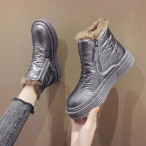Boots 35 36 37 38 39 40 PU Bei xuanna Middle heel (3-5cm) Muffin bottom PU Short tube Round head Artificial Plush Artificial Plush Winter 2020 Side zipper Korean version polyurethane Solid color Fashion boots Adhesive shoes Artificial Plush Youth (18-40 years old) winter Women's thickening