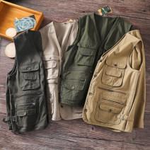 Vest / vest other Others L,XL,2XL,3XL,4XL Dark grey, army green, light khaki, deep khaki Other leisure standard Vest
